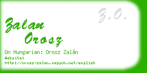 zalan orosz business card